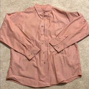 Salmon pink (not bright, muted) button down